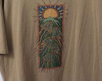 Vintage 1997 Psy-Jellyfish Mountain Tee - XL