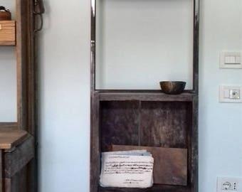 small bookshelves.