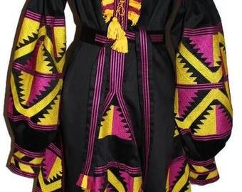 Vyshyvanka Dress Bohemian Clothing gift Ukraine Boho Dresses Vishivanka Caftan Dubai Abaya Custom Embroidery Mexican Ethnic Ukrainian