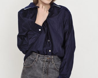 VINTAGE Dark Blue WRANGLER Retro Shirt