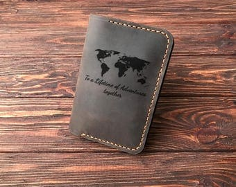 Personalized Passport Holder Leather Passport Wallet Personalized Passport Cover. Travel Gift Passport Case. Couple Gift. Christmas Gift k25