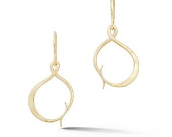 Gold Handmade Hand Forged Earrings (ER0222)