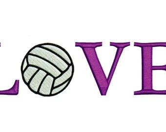 Embroidery Designs Volleyball Love Volleyball