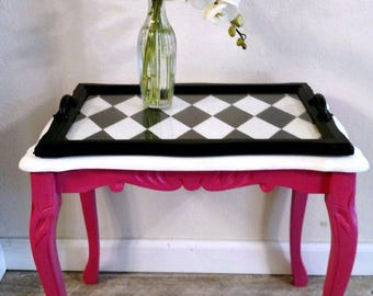 Patty The Petite Pink End Table Side Table Accent Table