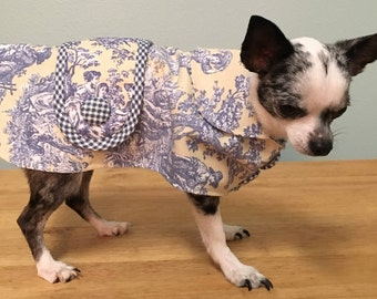 Yellow and Blue Toille Pet Coat