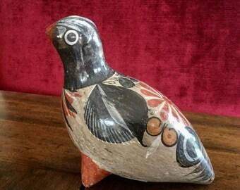Vintage Tonala Pottery Bird; Folk Art Pottery