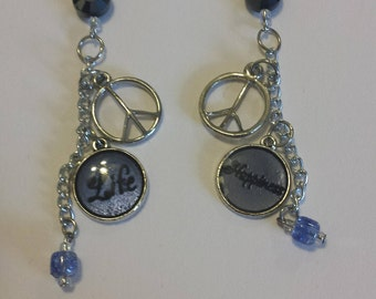 Peace, Love and Happiness Earrings