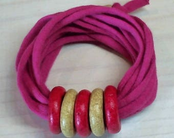 Handmade Cotton Bracelet. Ceramic Components. Modern Jewelry. Many Colors. Summer Fashion. Special Gift