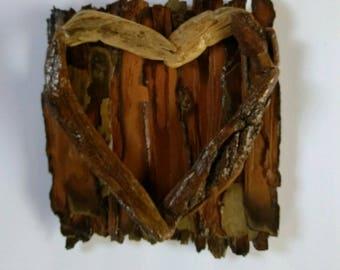 Driftwood art, wall hanging, wall art, heart, home decor, home furnishing, gift, love