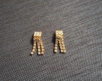 Vintage Jewelry Rhinestone Earrings