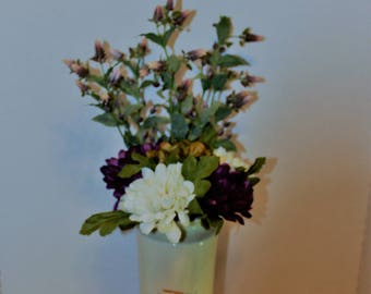 Japanese Vase with Artificial flowers