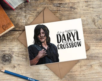 The Walking Dead Valentines Card | Daryl Dixon Valentines Card | We Go  Together Like Daryl