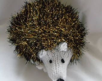 Hand Knitted Sparkly Hedgehog