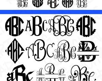 Monogram Fonts Cricut SVG, Font Bundle SVG Cut Files, Monogram Svg, Monogram Font Svg, Monogram Fonts Cricut Svg, Monogram Font Letters SVG.