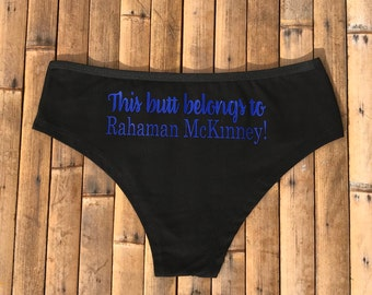 Personalized Lingerie Personalized This Butt Belongs to Panties Honeymoon Lingerie Wedding Lingerie Bachelorette Party Gift