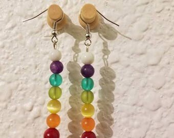 Rainbow chakra earrings
