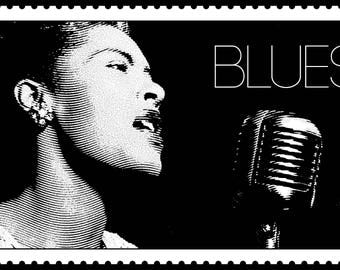 Haunting Signed & Numbered Limited Edition BILLIE HOLIDAY Print! Lady Sings the Blues!