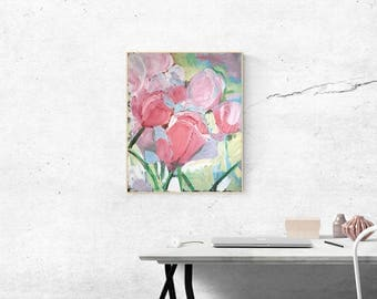 Tulips – Original, oil painting on stretched canvas
