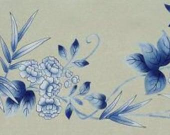Blossoms & Bamboo Stencil