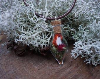 Autumn nature necklace