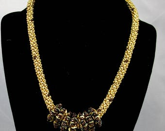 Gold add a bead necklace