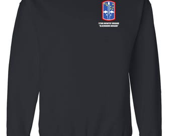 "172nd Infantry Brigade ""Blackhawk""  Embroidered Sweatshirt-7178"