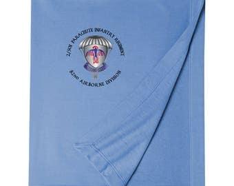 2-501st Parachute Infantry Regiment Embroidered Blanket-3448