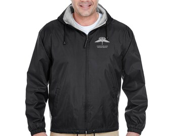 US Army HALO Embroidered Fleece-Lined Hooded Jacket-7712