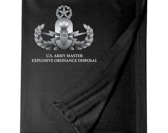 Master Rated Explosive Ordinance Disposal -EOD Embroidered Blanket-7719