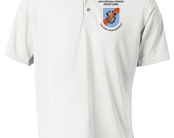 20th Special Forces Group Embroidered Moisture Wick Polo Shirt -3012