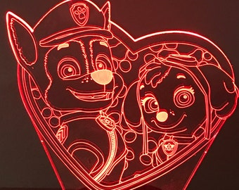 Paw Patrol Valentine's Nightlight