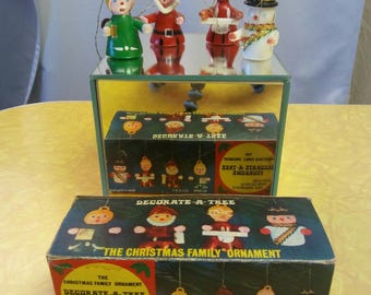 Vintage Ornaments and Original Box