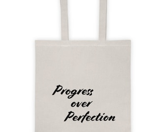 Progress over Perfection Tote bag