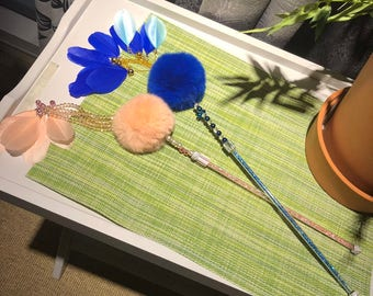 Cat teaser, Cat Toy, Pet toy, Cat wand, Colorful, personalized cat toy,Cute, Best Priced, Fishing pole toy for cats,