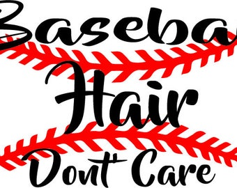 Embroidery Baseball Hair Don't Care digital download for hat embroidery  dgt,dst,dxf,exp,jef
