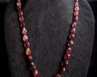 Carved Spinel Necklace