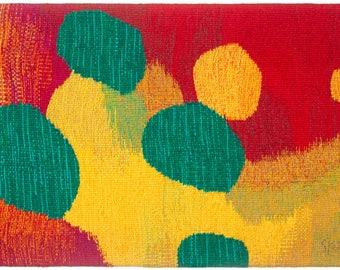 Educare  -giclée print of original weaved textile art work