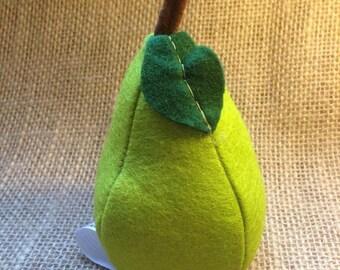 Felt Pear Play food