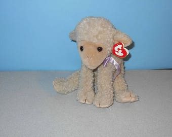 Ty Beanie Buddies Lovie 1997 Generation 3 Swing Tag and version 1 on Tush Tag