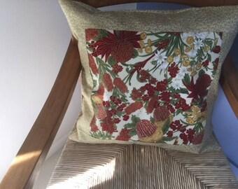 Australian wildflowers cushion cover