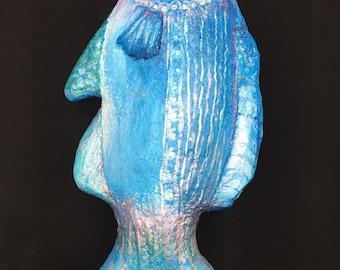 Fish, paper mache figure