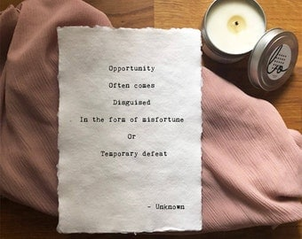 Love Box: Opportunity -  Inspirational, Romantic, Funny Greeting Card /Poem -Gifts for Bestfriend, Girlfriend, Boyfriend