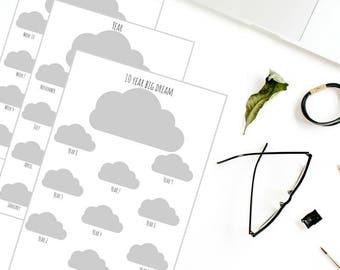 10 year Big Dream A4 printable planner