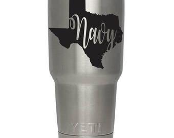 Texas Decal - Navy