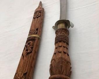 Wood Carved Sword