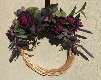 Midnight Willow Wreath