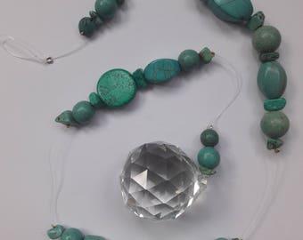 Crystal Mobile with turkiz stones