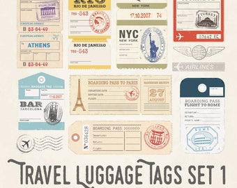 Travel Luggage Illustrations Set 1