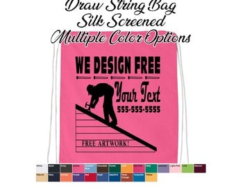 custom draw string bags, personalized draw string bags, drawstring bags, event bags, giveaway bags, string bags