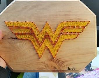 Wonder Woman Logo String Art